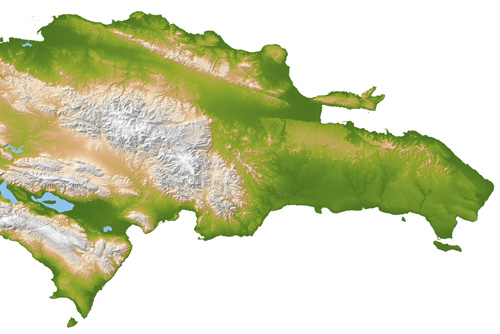 Topo map Domonican Republic free download Raster Relief map of the Dominican Republic, exact scale, the ability to bind to the coordinates. Only terrain without roads. For the design, printing.  Editable map.  Free Download. JPEG Hi-Res >>>