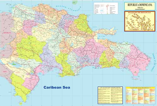 Political map Republica Dominicana Editable map free download  PDF, Adobe Illustrator