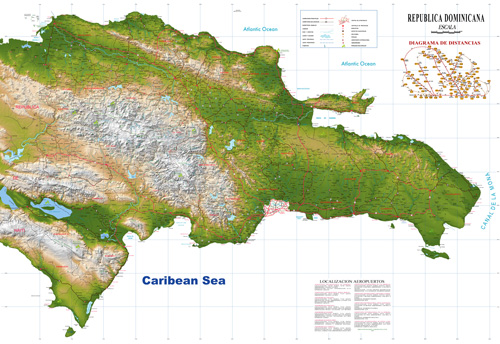 New correct Topo map Dominican Republic Republica Dominicana Free Download vector map Adobe Illustrator, PDF map Dominicana free download