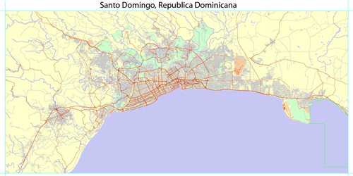 Maps republica dominicana free download maps gratis mapa santo full detailed vector map of greater santo domingo exact scale the ability to bind gumiabroncs Gallery