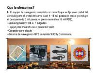 Equipo de Navegacion GPS con Mapa Dominicano SolCity