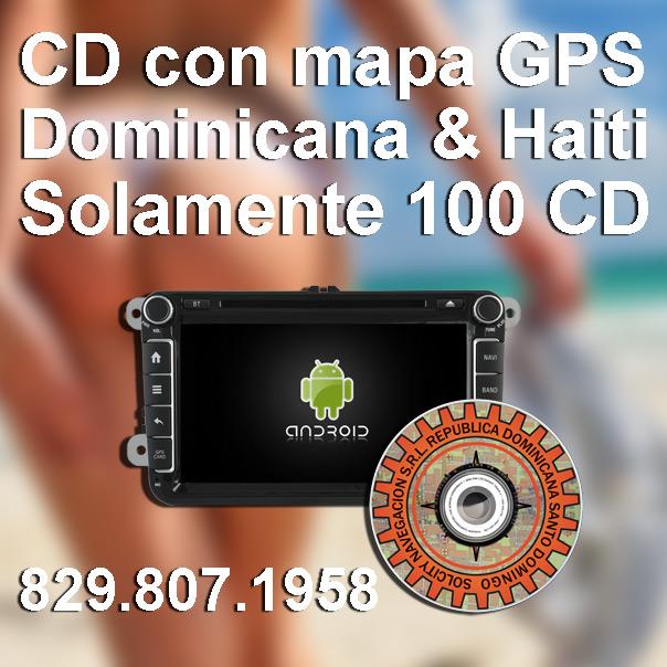 GPS Mapa Dominicano para el Radio del vehiculo