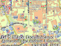 Mapa Santo Domingo, capital of Dominican Republic