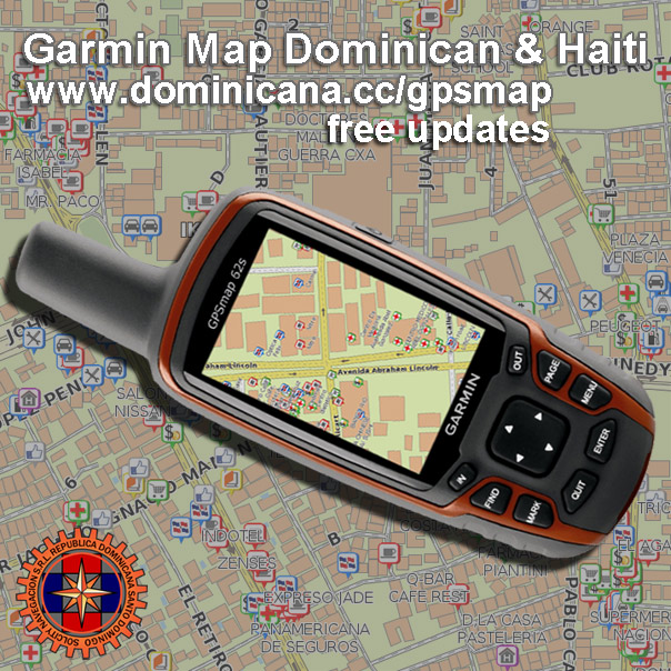 GPS Gamrin Dominican Maps of Dominican Repulbic & Haiti
