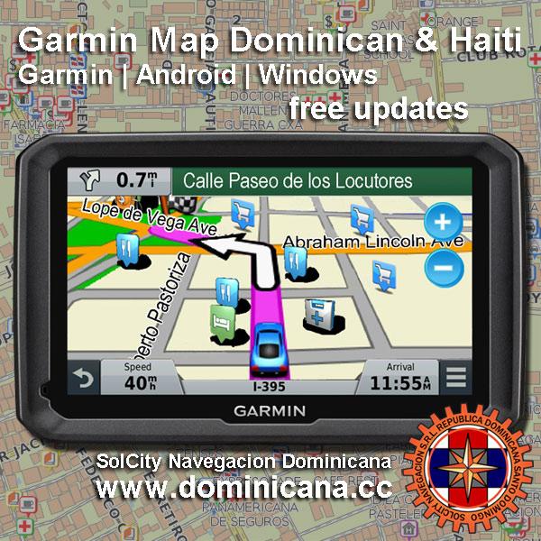 Garmin Dominican Republic and Haiti Maps