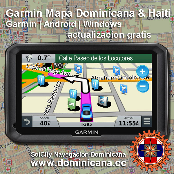 Garmin Mapa Dominicano para GPS