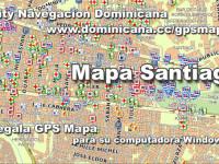 Mapa Garmin Dominicano, Santiago e otros ciudades