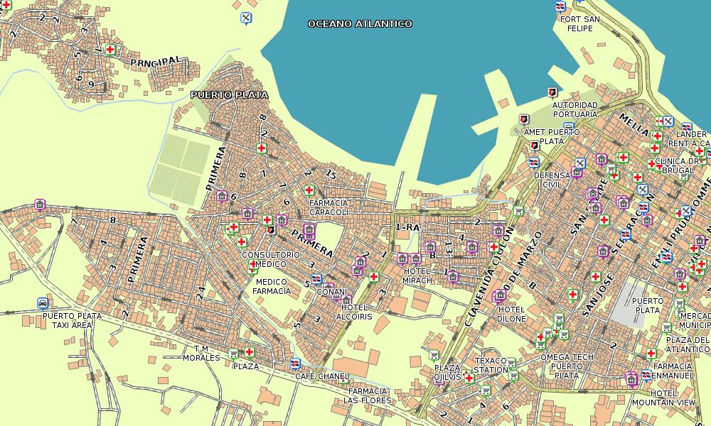 Puerto Plata Street Map Garmin Dominican Republic GPS Map For All - Dominican republic cities map