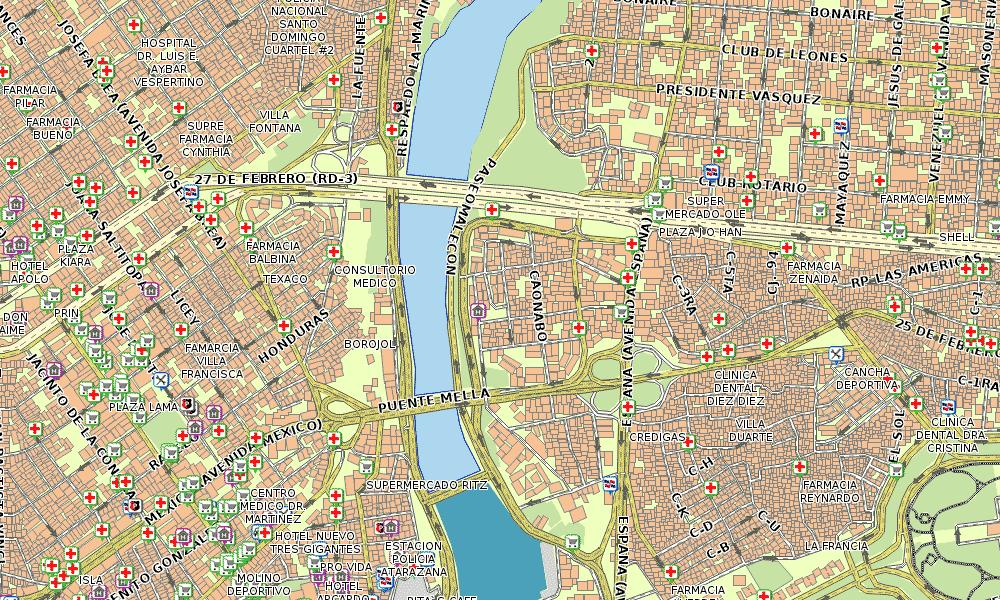 Santo Domingo Street Map Garmin Dominican Republic GPS Map For All - Santo domingo map