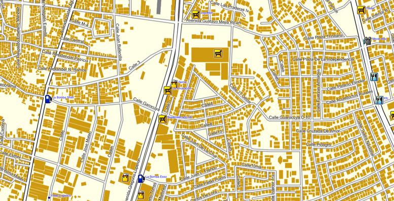 Republica Dominicana Santo Domingo GPS road maps maps for Garmin and