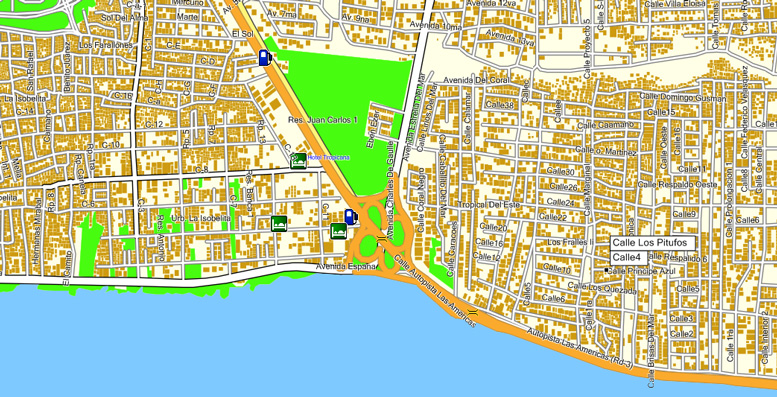 Republica Dominicana Santo Domingo GPS road maps maps for Garmin and