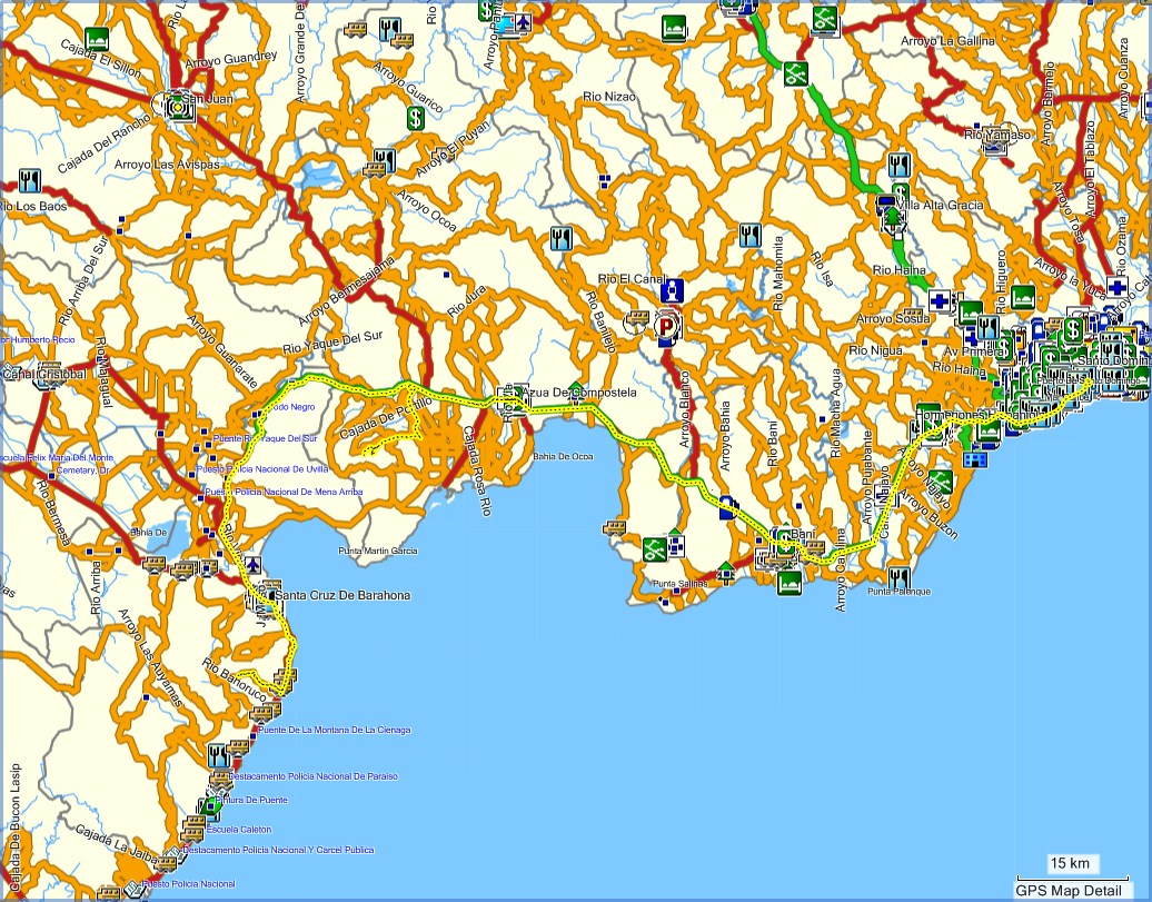 Dominican Republic maps for Garmin GPS - Browse free tracks ...