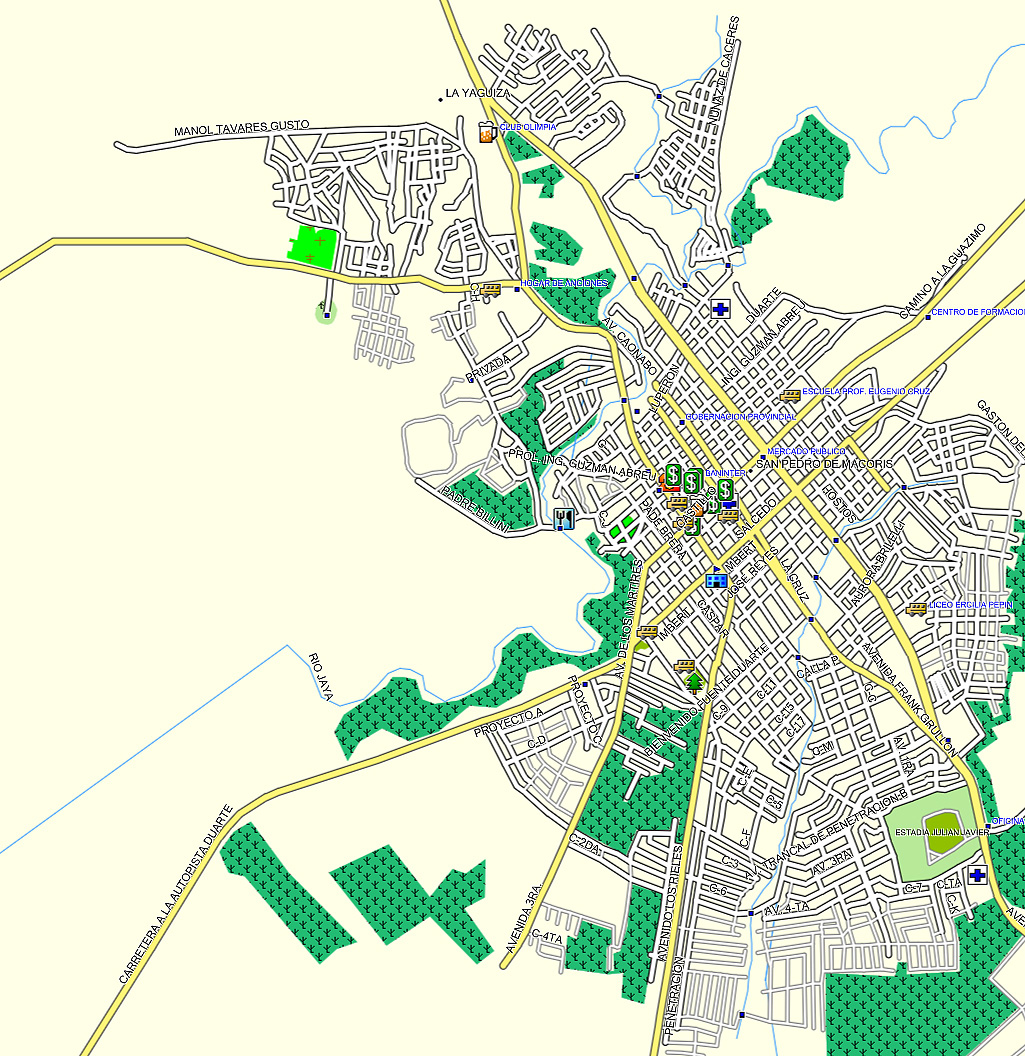 San Pedro De Macoris, GPS map republica Dominicana
